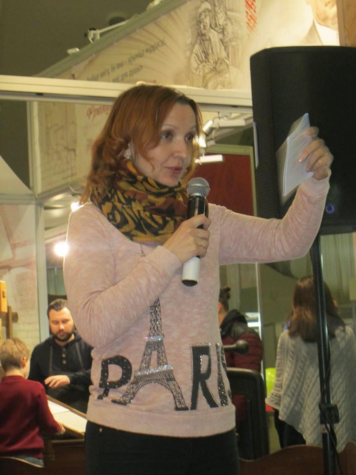 Оксана Ярошонок на Менждународной выставке